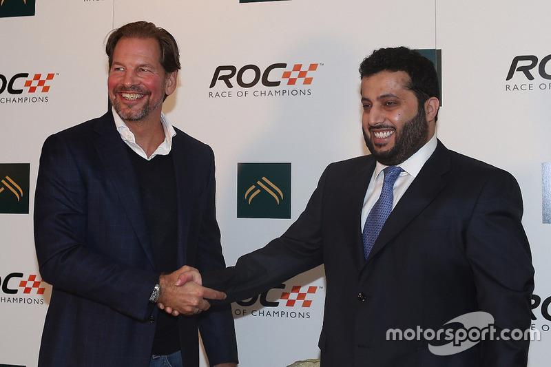 رئيس سباق الأبطال فريدريك جونسن والأستاذ تركي آل الشيخ، رئيس الهيئة العامة للرياضة