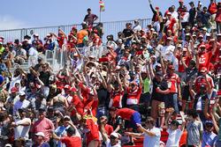 Les fans dans les tribunes
