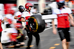 Sauber pit stop practice