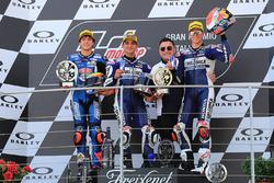 Sur le podium : race winner Jorge Martin, Del Conca Gresini Racing Moto3, le deuxième, Marco Bezzecchi, Prustel GP, le troisième, Fabio Di Giannantonio, Del Conca Gresini Racing Moto3