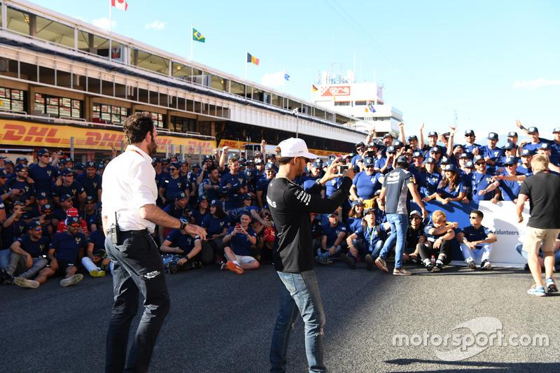 Lewis Hamilton, Mercedes AMG F1 and FIA Volunteers