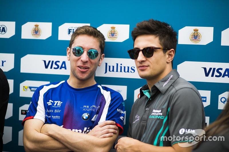 Robin Frijns, Amlin Andretti Formula E Team. & Mitch Evans, Jaguar Racing