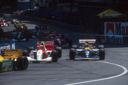 Ayrton Senna, McLaren MP4/8, Damon Hill, Williams FW15C Renault