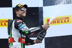 Podium : le vainqueur Jonathan Rea, Kawasaki Racing