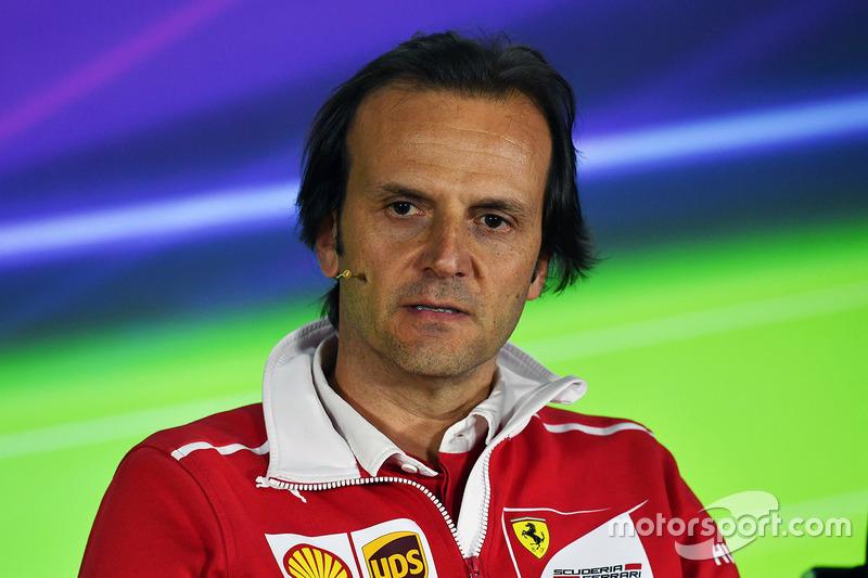 Luigi Fraboni, Ferrari Head of Engine Trackside Operations in the Press Conference