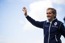 Alain Prost sur le podium