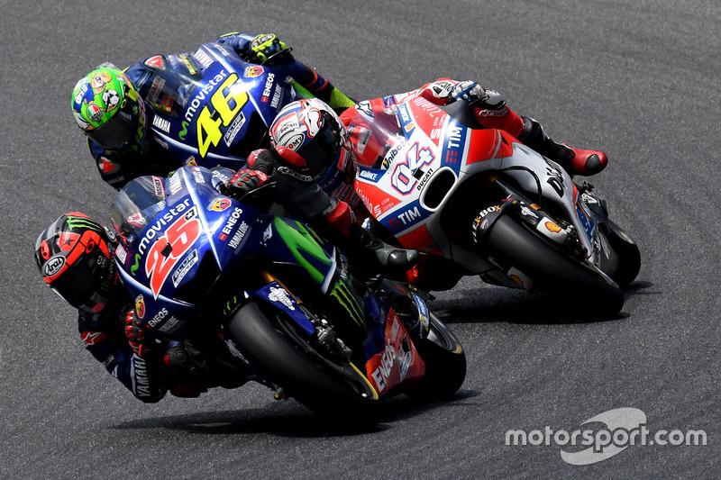 Маверик Виньялес, Yamaha Factory Racing, Андреа Довициозо, Ducati Team, Валентино Росси, Yamaha Factory Racing