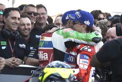 Third place Jorge Lorenzo, Ducati Team, Aleix Espargaro, Aprilia Racing Team Gresini