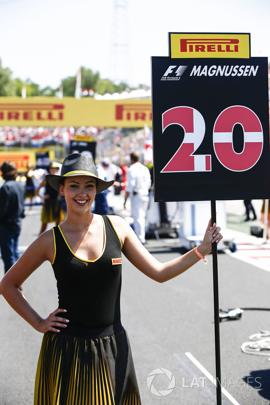 Grid Girl for Kevin Magnussen, Haas F1 Team
