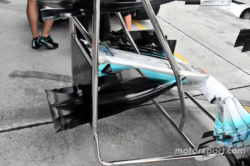 Mercedes F1 W08: Frontpartie