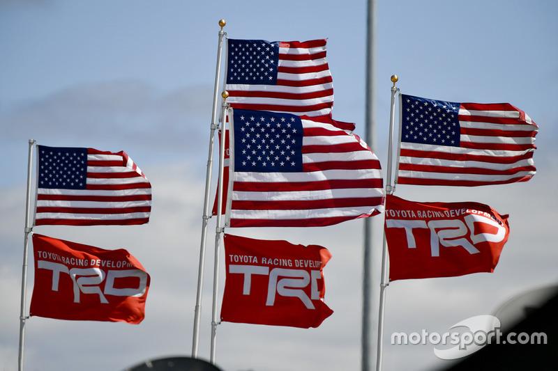 Flaggen: USA und TRD