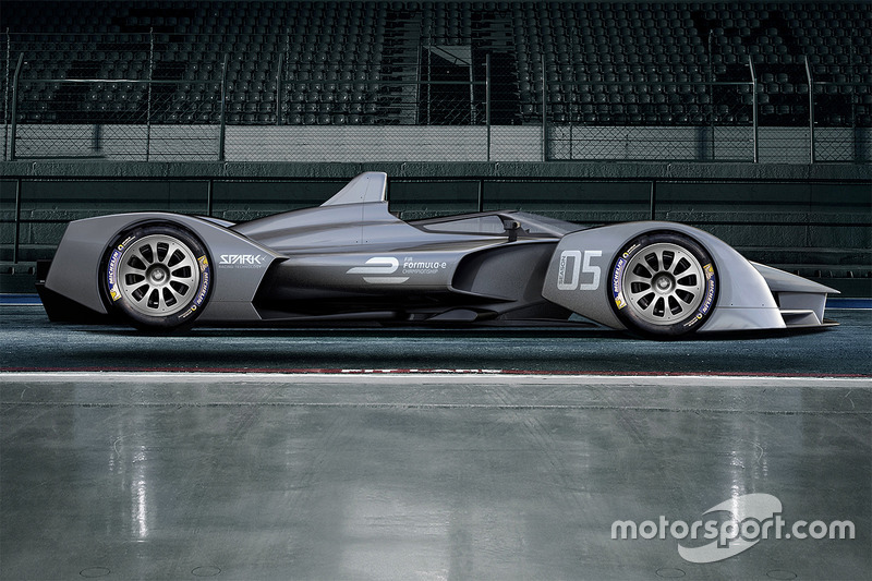 Rendering della Spark Racing Technology di Formula E