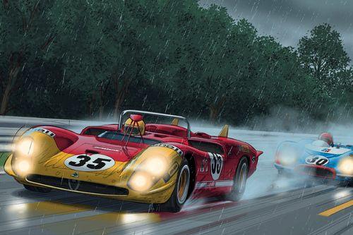 Presentatie stripboek Steve McQueen in Le Mans