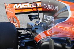 Détails du monkey seat de la McLaren MCL32