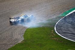 #15 RLR Msport, Ligier JS P3 - Nissan: John Farano, Morten Dons, Alex Kapadia crash