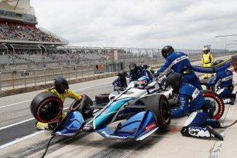 Takuma Sato, Rahal Letterman Lanigan Racing Honda au stand
