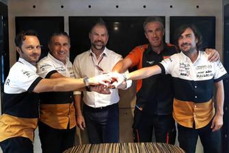 Les membres de l'équipe Ángel Nieto