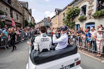 Krisztián Szabó, EKS, Andreas Bakkerud, EKS Audi Sport during the parade
