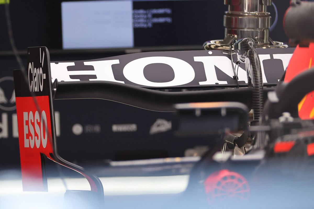 Red Bull Racing RB16B, detail of the rear wing seen at Spa which could be seen again in Austin