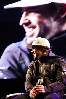 Fernando Alonso, McLaren, on stage