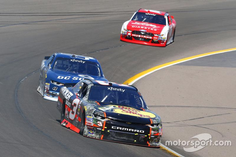 Ty Dillon, Richard Childress Racing, Chevrolet; Brennan Poole, Chip Ganassi Racing, Chevrolet