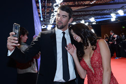 Swimmer Michael Phelps and Nicole Phelps
