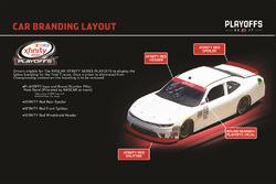 NASCAR Xfinity-Playoffs 2017: Markierungen an den Autos der Playoff-Teilnehmer
