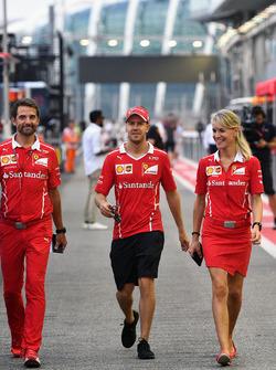 Sebastian Vettel, Ferrari and Britta Roeske