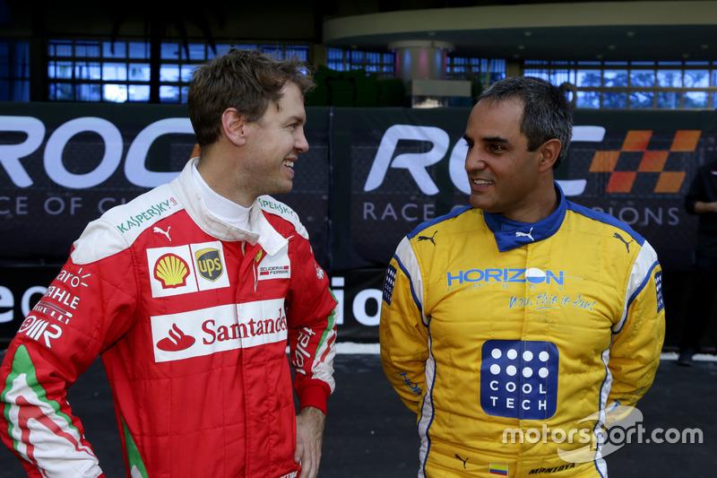 Sebastian Vettel y Juan Pablo Montoya