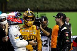 Jenson Button, Kyle Busch and Kurt Busch
