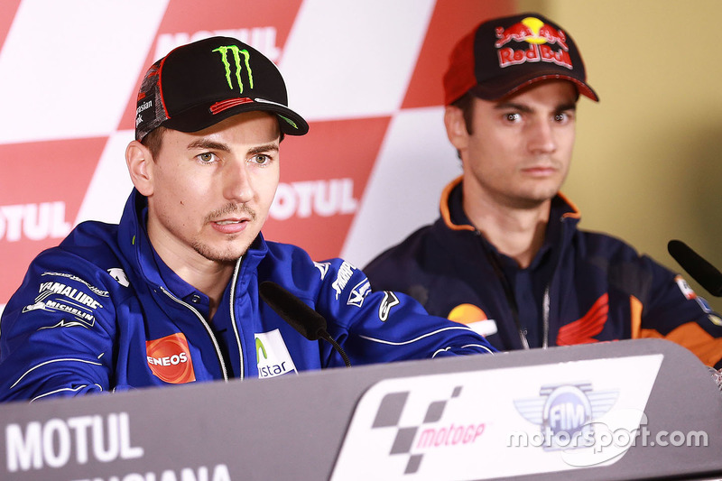 Jorge Lorenzo, Yamaha Factory Racing; Dani Pedrosa, Repsol Honda Team