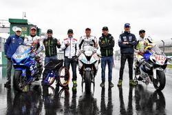 Johann Zarco, Jonas Folger, Cal Crutchlow, Loris Baz conh pilotos Handy race