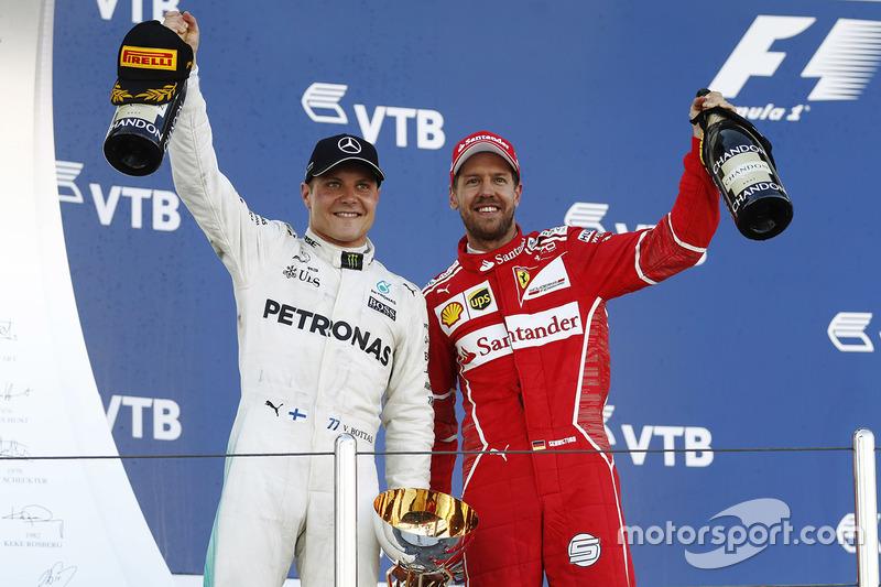 Vettel y Bottas, los pilotos con más podios