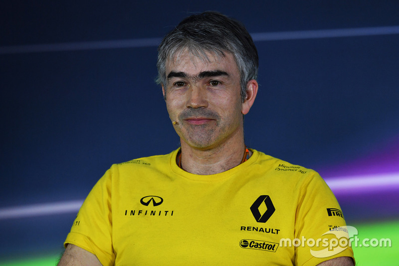 Nick Chester, Renault Sport F1 Team Technical Director in the Press Conference