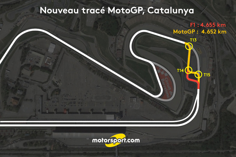 Nouveau tracé Circuit de Catalunya pour le MotoGP