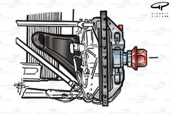 Ferrari F1-2000 front brake assembly (Qualifying)