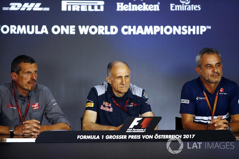 Гюнтер Штайнер, керівник Haas F1, Франц Тост, керівник Toro Rosso, Біт Цендер, менеджер Sauber F1 Team