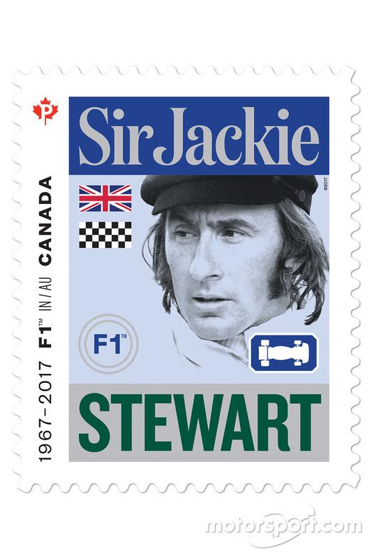 Марка с изображением Джеки Стюарта