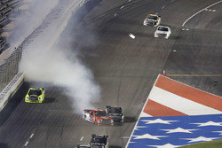 Austin Wayne Self, AM Racing Toyota  Timothy Peters, Chevrolet Silverado crash