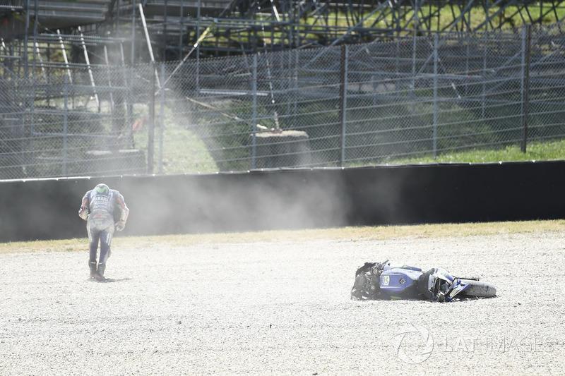 Авария: Маверик Виньялес, Yamaha Factory Racing