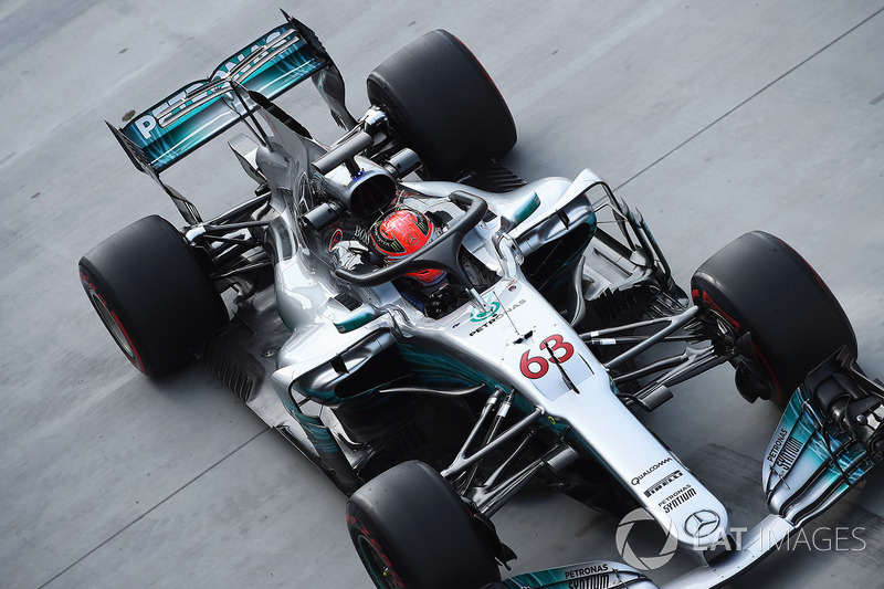 George Russell, Mercedes-Benz F1 W08 con el halo
