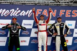 Podium: 2. Anthony Kumpen, PK Carsport; 1. Borja Garcia, Racers Motorsport; 3. Frederic Gabillon, RDV Competition