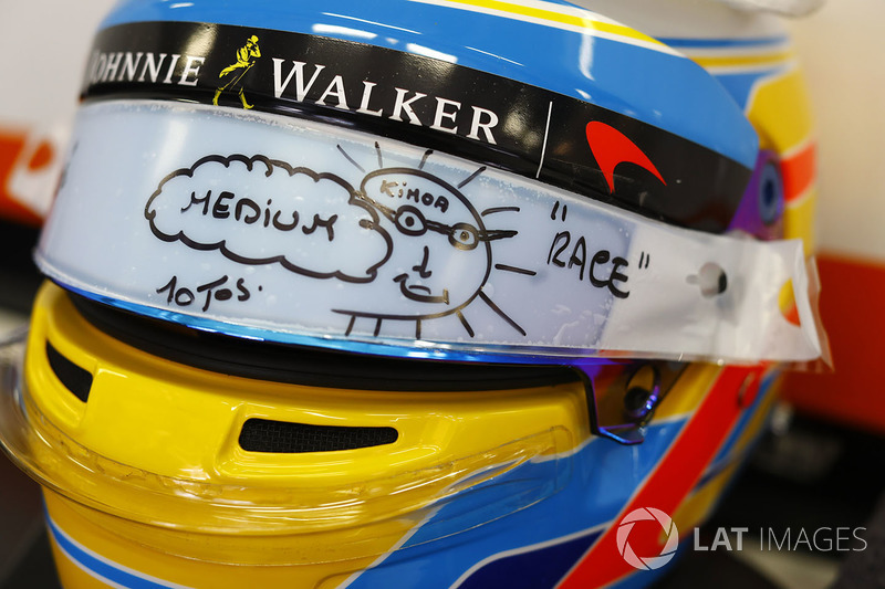 Helmet for Fernando Alonso, McLaren
