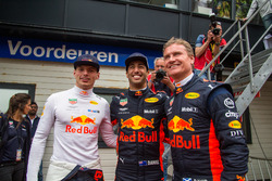 Max Verstappen, Daniel Ricciardo and David Coulthard