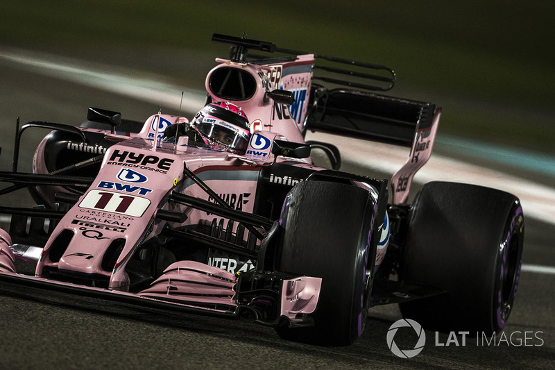 FORCE INDIA: Sergio Perez 13 x 7 Esteban Ocon