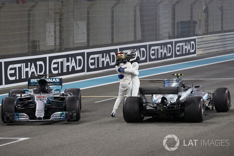 2. Lewis Hamilton, Mercedes AMG F1, yarış galibi Valtteri Bottas, Mercedes AMG F1