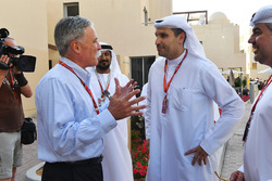 Chase Carey, Chief Executive Officer and Executive Chairman of the Formula One Group and H. E. Khaldoon Al Mubarak, Abu Dhabi Executive Affairs Authority