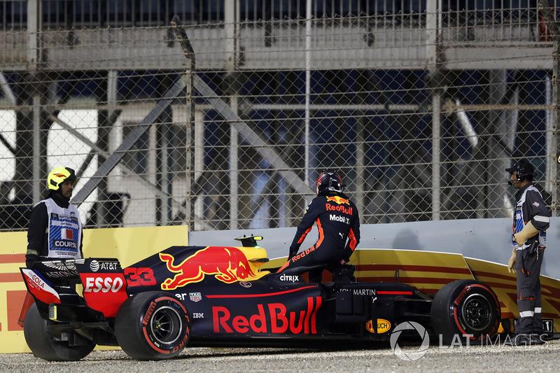 Макс Ферстаппен, Red Bull Racing RB14 Tag Heuer, розбив болід