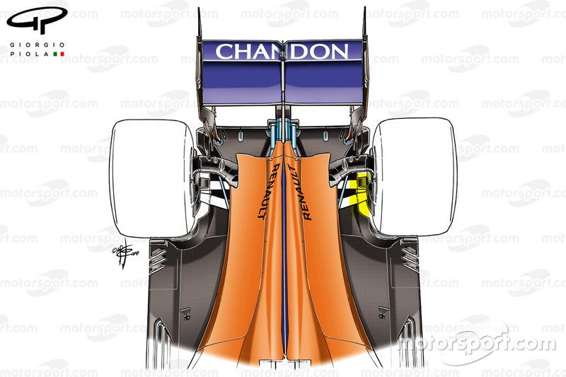 Задняя часть McLaren MCL33