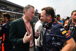 Sean Bratches, Managing Director of Commercial Operations, Formula One Group and Christian Horner, Red Bull Racing Team Principal